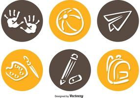 Iconos del círculo del preescolar