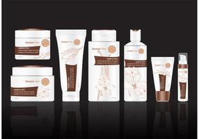 Paquete de vectores de tratamiento de belleza de vainilla