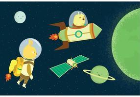Vecteurs de voyage spatiaux
