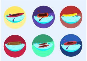 Vetores de rafting do rio louco