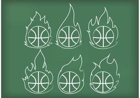 Outline-basketball-on-fire-vectors
