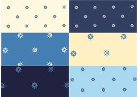 Free-vector-nautical-pattern-set