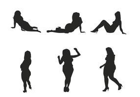 Vektor Mädchen Silhouetten