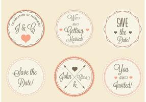 Free Vector Wedding Labels Set