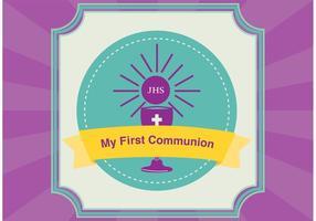 Vecteur de carte de première communion