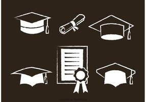 White Graduate Vector Icons