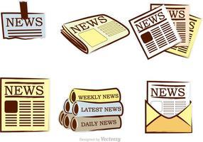 Icone di vettore del giornale