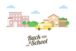 Terug naar school Vector