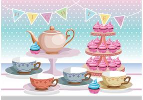 High Tea Vector Background