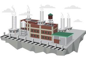 Vector de fábrica de 3D