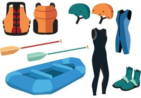 River Rafting Vector Equipment