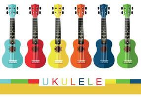 Vectores coloridos del Ukulele