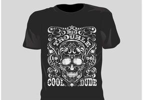 Diseño de la camiseta del Grunge del vector libre