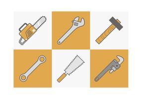 Outils gratuits icônes vectorielles