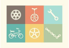 Ícones de vetor de bicicleta grátis