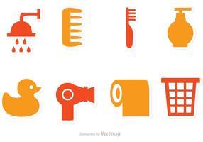 Icônes de vecteur de salle de bains