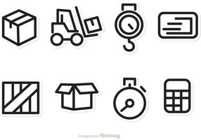 Logística e ícones de vetor de transporte