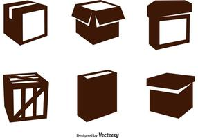 Iconos del vector del paquete