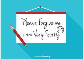 I Am Sorry Vector Illustration