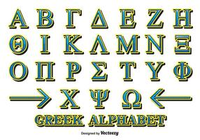 Dekorativa grekiska alfabetvektor