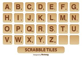 Scrabble Fliesen Vektor Set