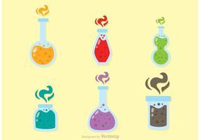 Bouteille en verre de vecteurs de poison