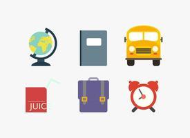 Iconos de la escuela del vector