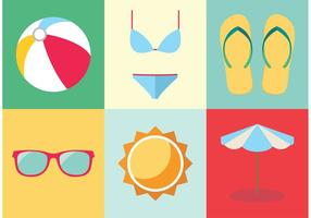 Free Vector Spring Break Elements