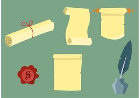 Vectores de papel enrollados