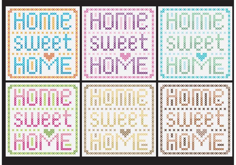 Inicio Sweet Home Vectores de punto de cruz - Descargue Gráficos y ...