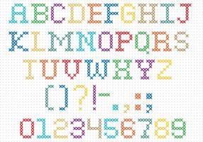 Cross Stitch Vector Font