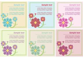 Floral Cross Stitch Vector Sjablonen