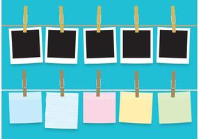 Wäscheklammern, Fotos und Papiervektoren