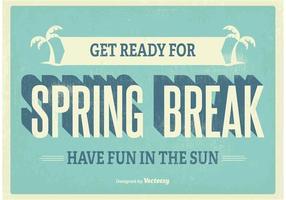 Cartel de las vacaciones de primavera del vintage