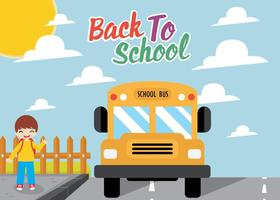 Diseño vectorial del autobús escolar libre del vector