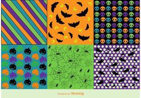 Vector libre Halloween patrones de fondo