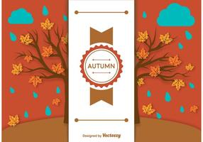 Autumn Background Label Template