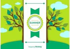 Fondo de verano y plantilla de etiqueta