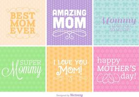 Mother's Day Type Backgrounds vector