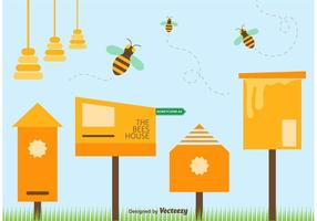 Spring Bee Vector Illustration