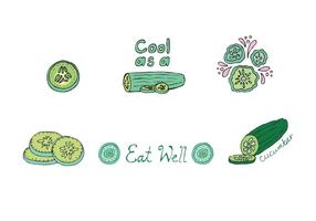 Free Cucumber Vector Series