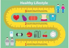 Cinta de medición saludable vector de fondo