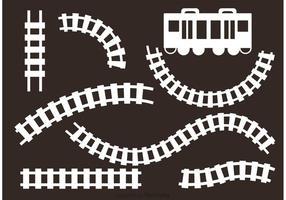 Weiße Eisenbahnvektoren