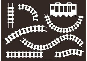 Vetores da estrada de ferro branca
