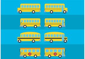 Vector Pack de autobuses escolares