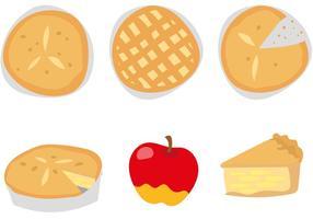 Deliciosos vectores pastel de manzana