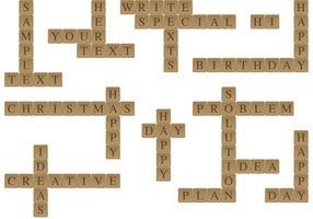 Scrabble bericht vectoren
