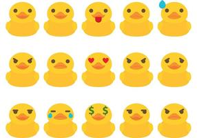 Gummi Duck Emoticon Vectors