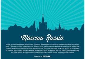 Moskva Ryssland Skyline Vector Illustration