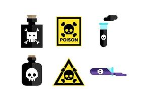 Poison Vector Icons Set